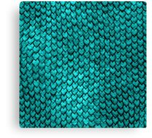 Mermaid Scales - Turquoise Canvas Print