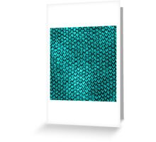 Mermaid Scales - Turquoise Greeting Card