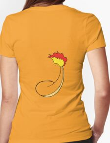 Charmander Back Womens Fitted T-Shirt