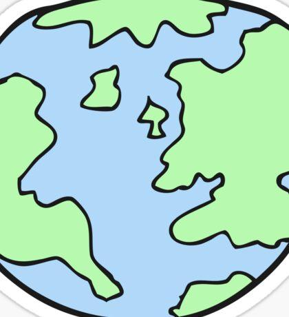 cartoon planet earth Sticker