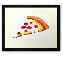 Retro 8 bit pizza Framed Print