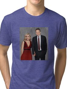 Gillian Anderson and David Duchovny attend Emmy Awards 2017 Tri-blend T-Shirt
