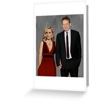Gillian Anderson and David Duchovny attend Emmy Awards 2017 Greeting Card