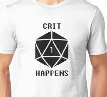 CRIT Happens (Black) Unisex T-Shirt
