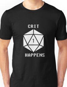 CRIT Happens (White) Unisex T-Shirt