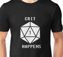 CRIT Happens (White) Unisex T-Shirt