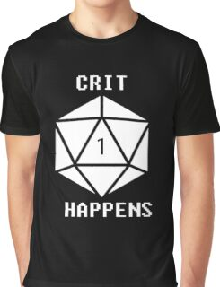 CRIT Happens (White) Graphic T-Shirt