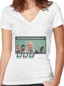I love Sir David Attenborough 2 Women's Fitted V-Neck T-Shirt