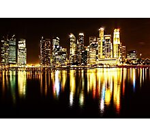Singapore city reflection Photographic Print