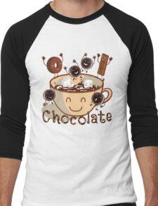 Hot chocolate fun Men's Baseball ¾ T-Shirt