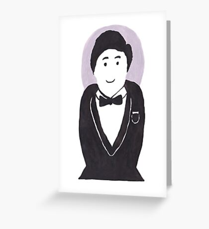 Smart Tuxedo Stacking Doll Greeting Card