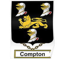 Compton Coat of Arms (English) Poster
