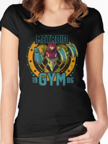 Metroid Gym Women's Fitted Scoop T-Shirt