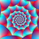 Spiral in Blue and Red by Objowl