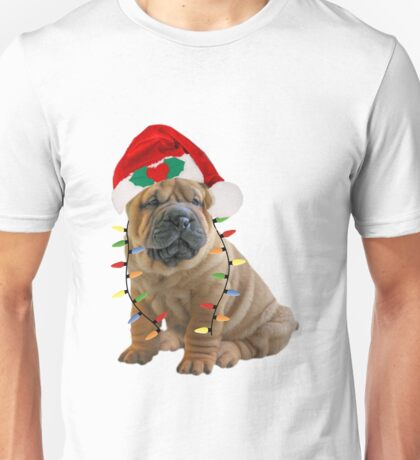 Chinese Sharpei Christmas Lights Unisex T-Shirt