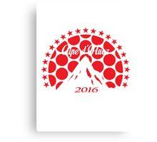 Alpe d'Huez 2016 (Red Polka Dot) Canvas Print