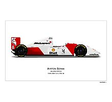 McLaren MP4/8 - Ayrton Senna Art Print Photographic Print
