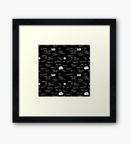 The Asocial Pattern Framed Print