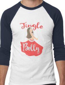 Jingle Belly Dancer Christmas Men's Baseball ¾ T-Shirt