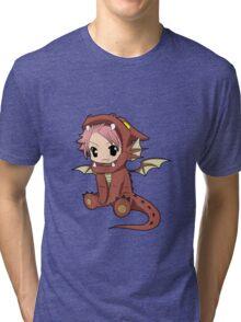 Natsu Dragneel chibi Tri-blend T-Shirt