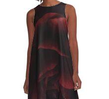 Red Ranunculus I A-Line Dress