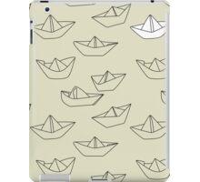Paper Origami Sailing Boats iPad Case/Skin