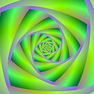 Green and Lilac Spiral by Objowl