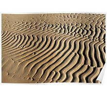 Sand wavy abstract pattern Poster