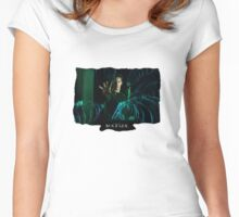 Matrix Attitude Bending Energy - Keanu Reeves Women's Fitted Scoop T-Shirt