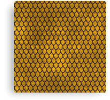 Mermaid Scales - Gold Canvas Print