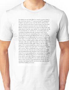 Holding Onto You Lyrics Unisex T-Shirt
