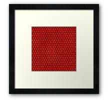 Mermaid Scales - Red Framed Print