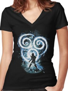 air tribe Women's Fitted V-Neck T-Shirt