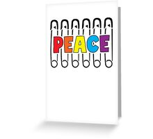 Safety Pin For Peace Greeting Card