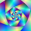 Spiral in Blue and Purple by Objowl