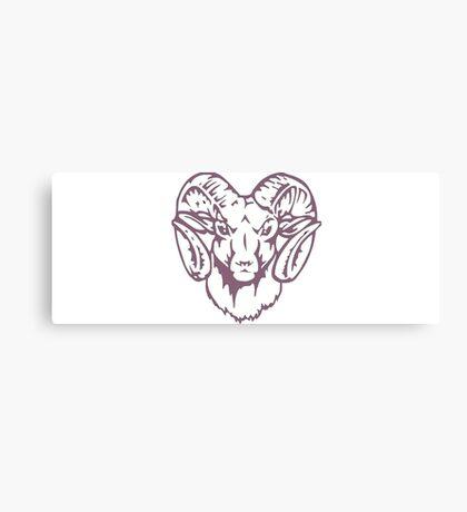 purple ram  Canvas Print