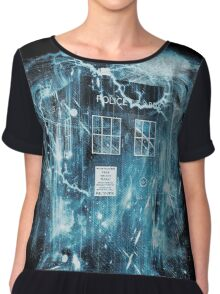 Time and space storm Chiffon Top