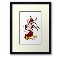 Erza Framed Print