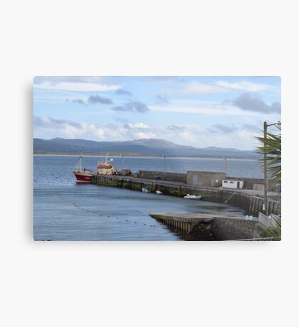Docked Boat in Donegal Metal Print