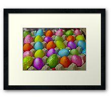 Coloured eggs Framed Print
