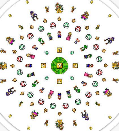 8-Bit Mario Mandala Sticker