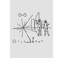Rock the Universe - modified pioneer plaque Photographic Print