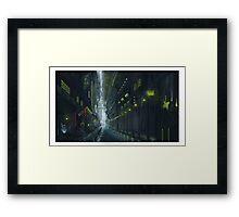 Sci-fi autumn street Framed Print