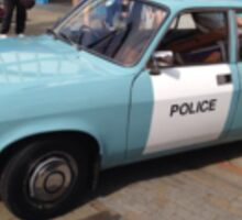 Vintage police car Sticker