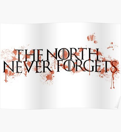 Game Of Thrones - The North Never Forgets Poster