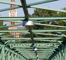 Cast iron pedestrian bridge, Vienna Sticker