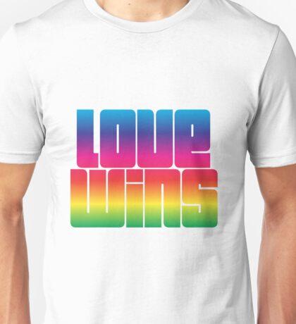 Love wins Rainbow lettering Unisex T-Shirt