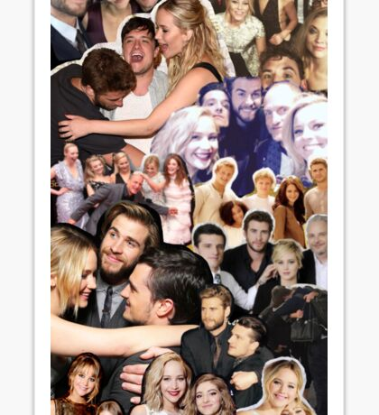 Cast Collage: The Hunger Games Sticker