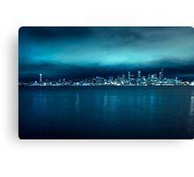 Seattle Skyline from Alki Beach Canvas Print