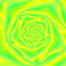 Rose Spiral in Yellow and Green by Objowl